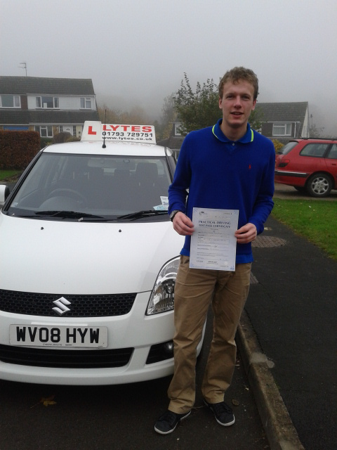 David passes with Lytes Driving School