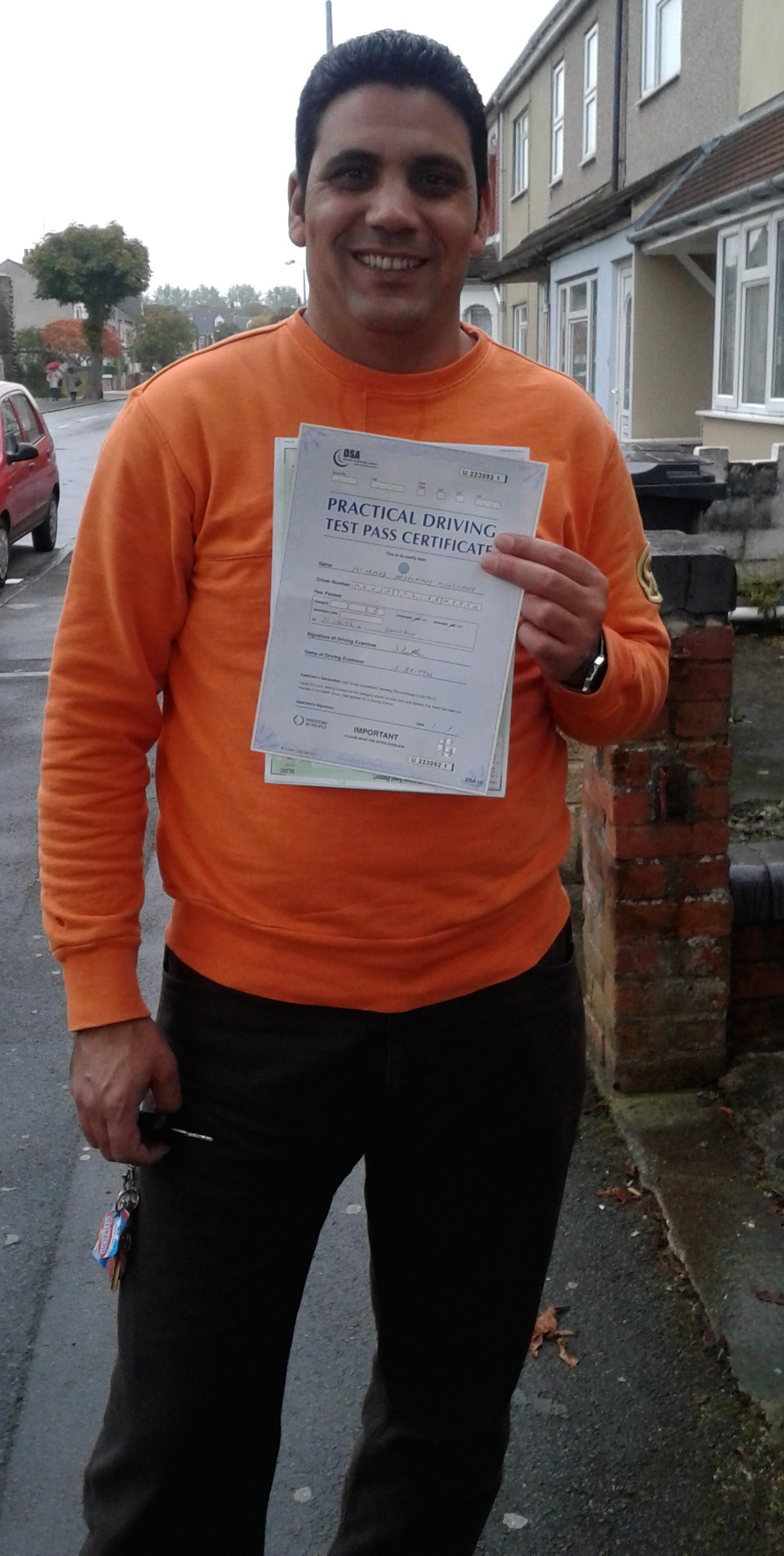 Mohammed passes with Lytes Driving School