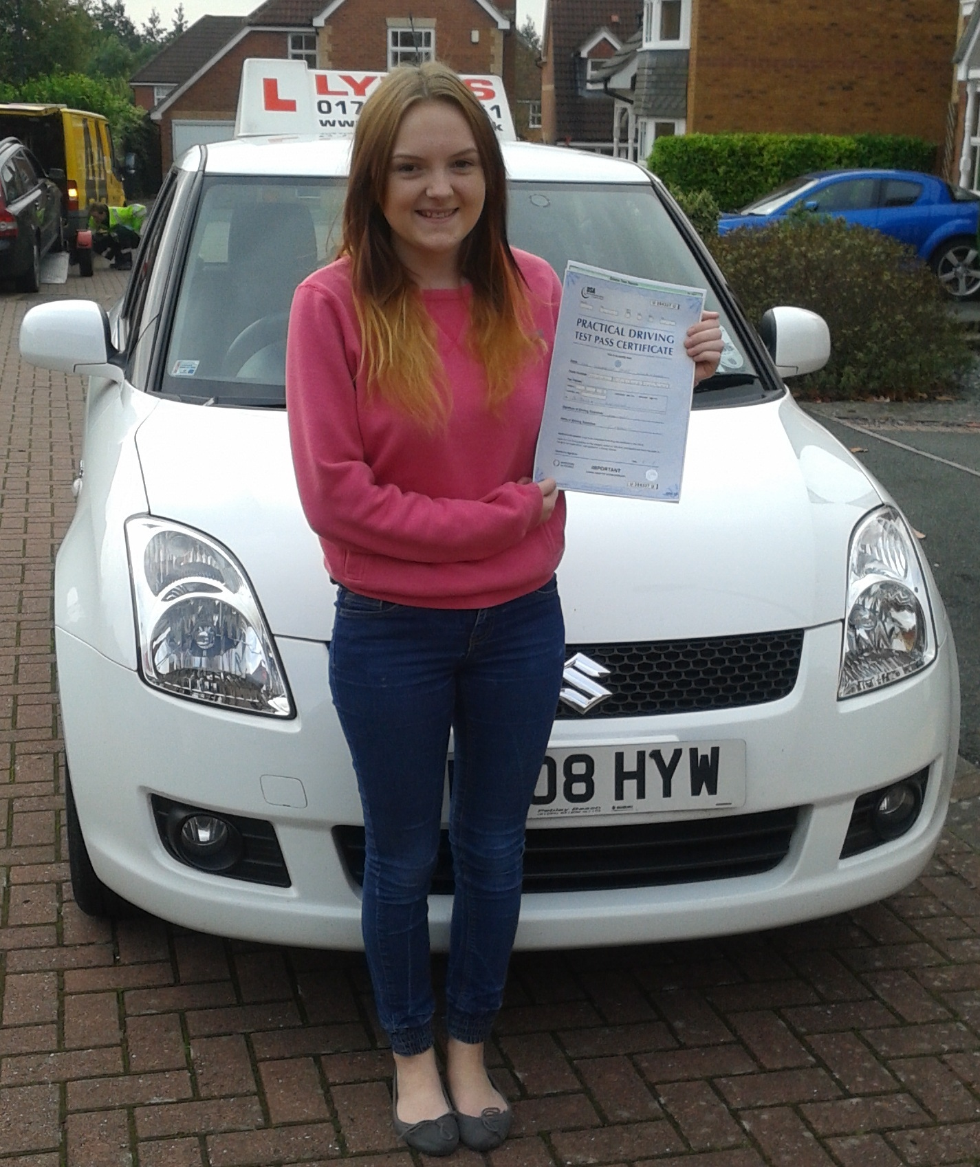 Michaella passes with Lytes Driving School